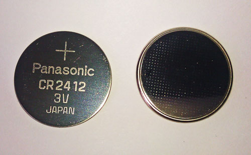 Lithium Ion Car Battery >> CR2412 lithium button cell batteries to fit film watches. Battery equivalent to DL2412 BR2412 ...
