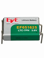 ER651625 LTC-7PN 3.6V Lithium Thionyl Chloride (Prismatic Cell with four pins)